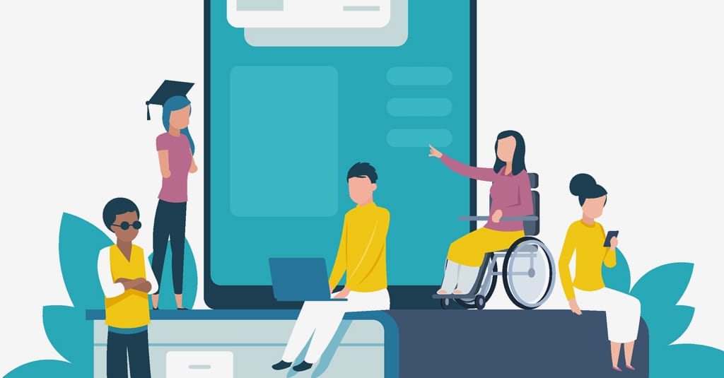 illustration of disabilities and web usability